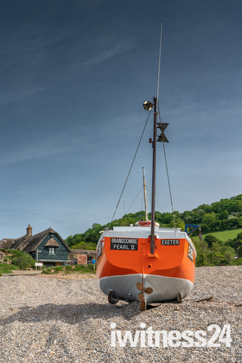 Boat and Beach at Branscombe
