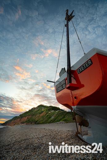 Sunset at Branscombe Beach