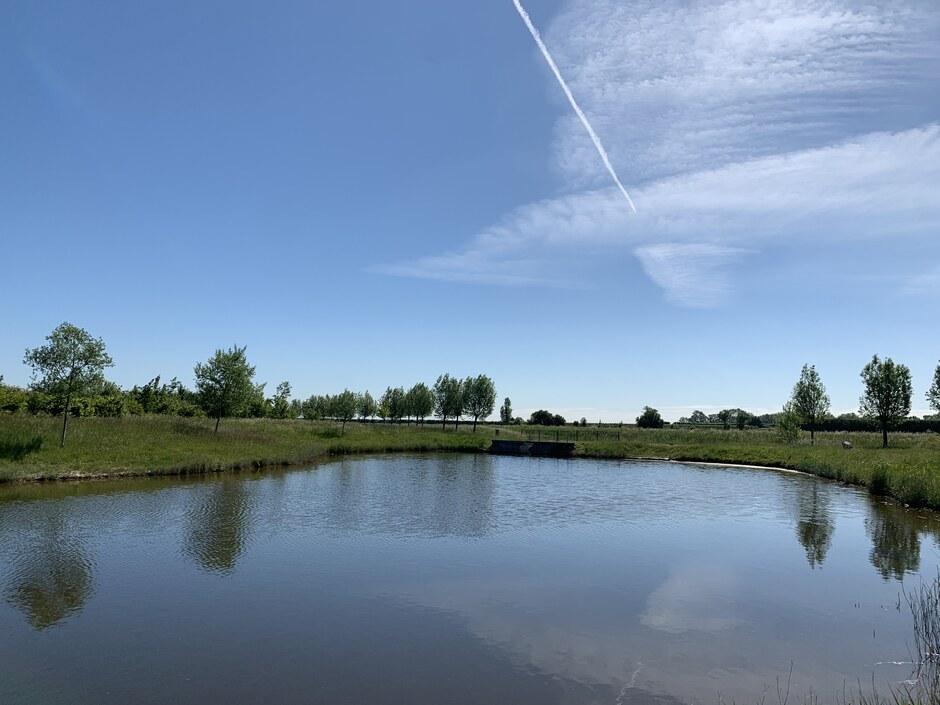 Sluierwolken en zon.