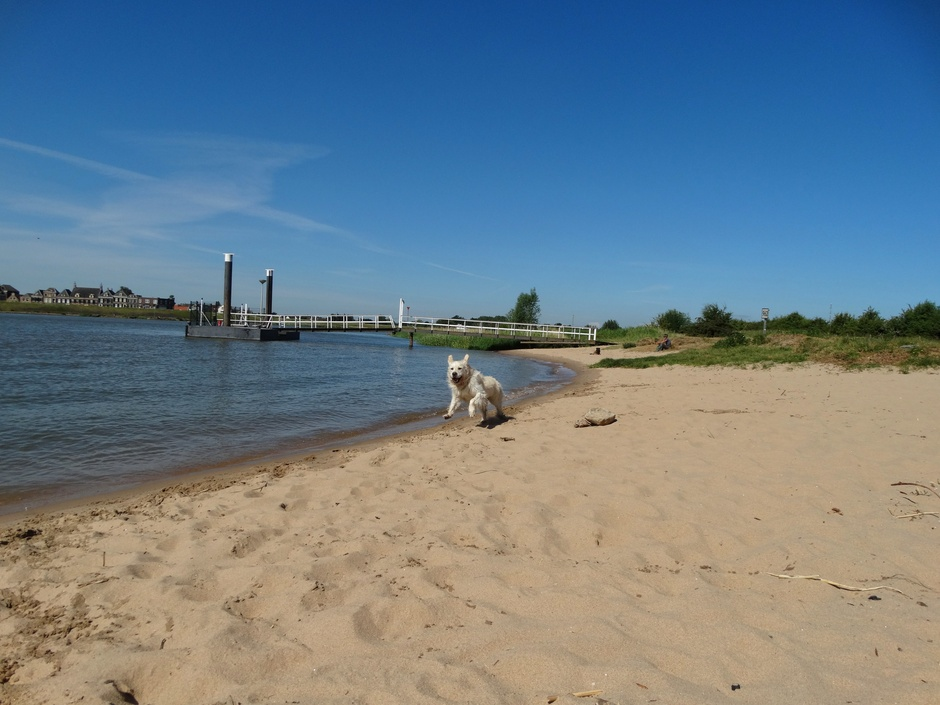 Ravotten land het strandje