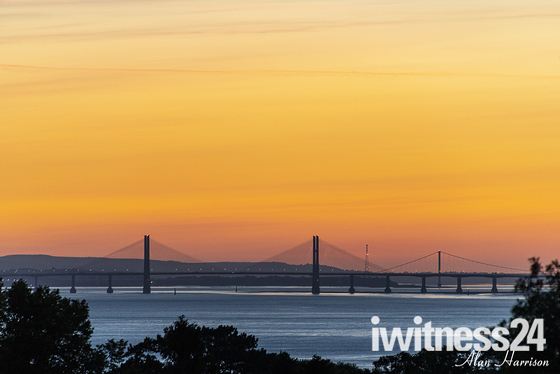 Severn bridges at sunrise
