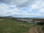 A view along the East Devon coast from the footpath towards Sandy Bay