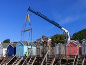 Lockdown easing: beach huts on the move in Felixstowe!