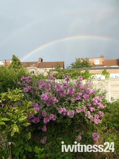 Double rainbow from our rear garden