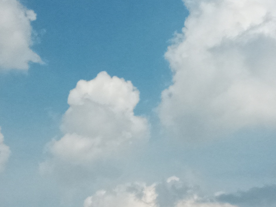 Opbollende stapelwolken.