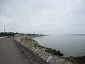 Exmouth sea-front on a cloudy start of the day.