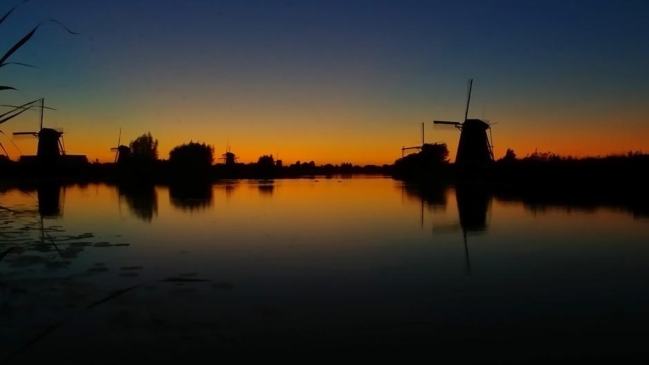 Blauwe uurtje na zonsondergang