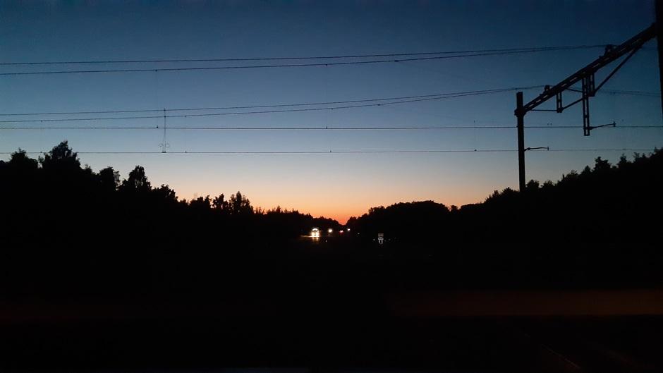Een uur na zonsondergang