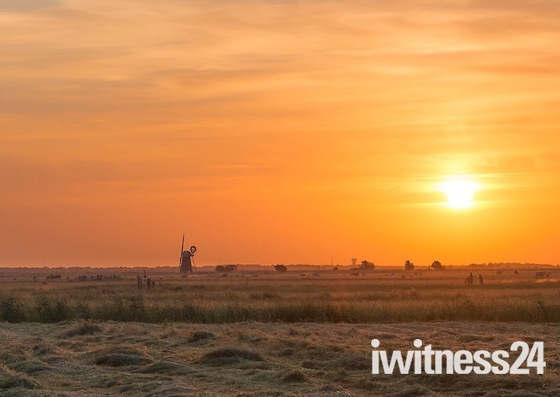 Sunrise at Dawn over the Marshes