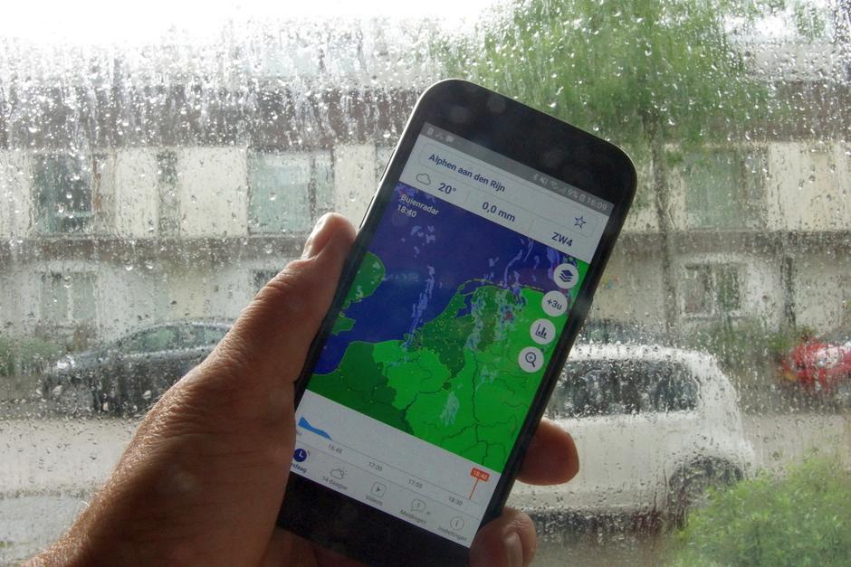 Regen vandaag, houd de buienradar bij de hand