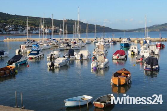 Peaceful evening light in Lyme Regis