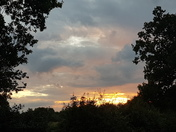 Moody skies and sunbeams
