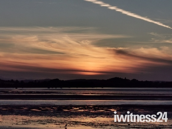 Beautiful sunset across the Exe Estuary