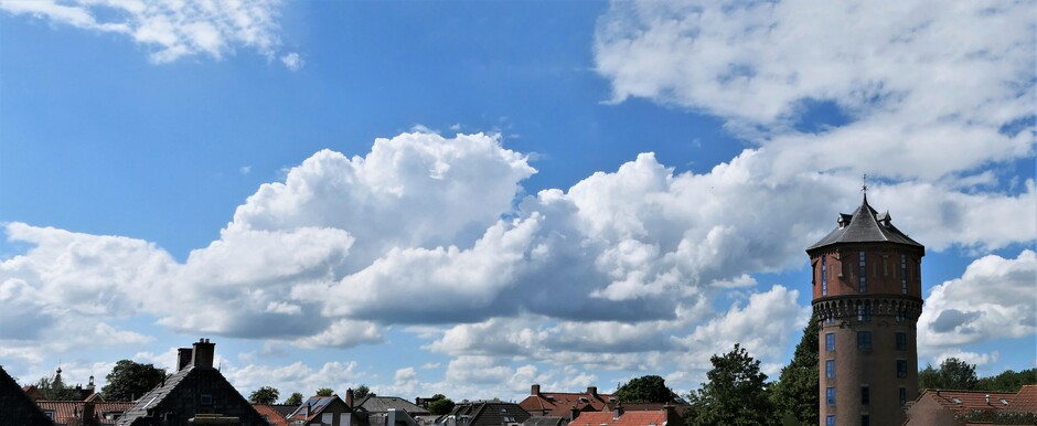 Weer blauwe lucht