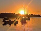 sunrise river Deben Waldringfield suffolk