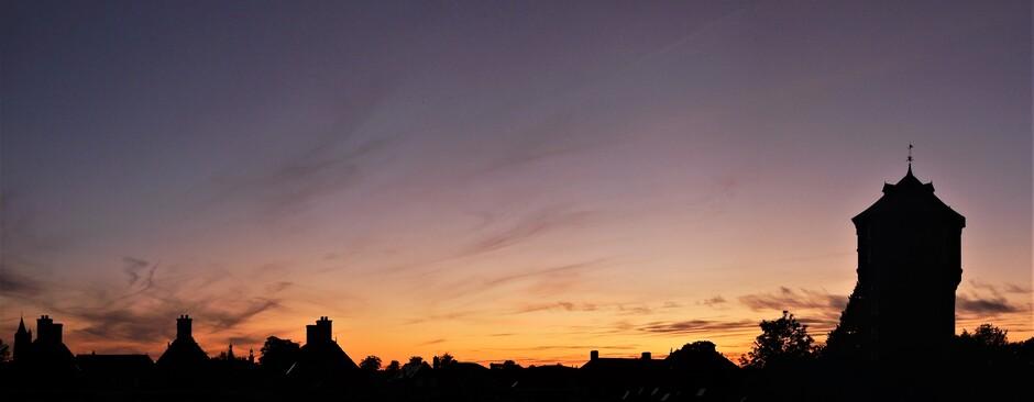Laatste kleur na zonsondergang