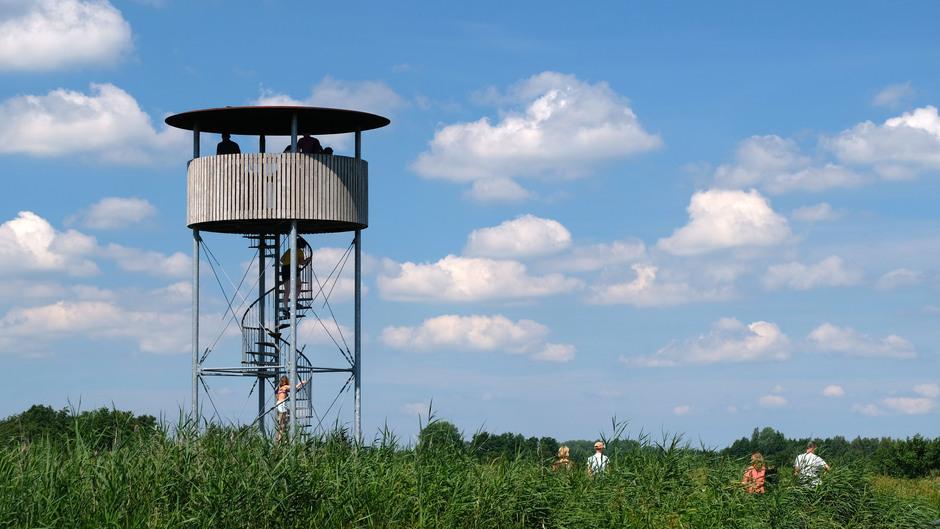 Prachtig, helder weer voor een kijkje op de uitkijktoren