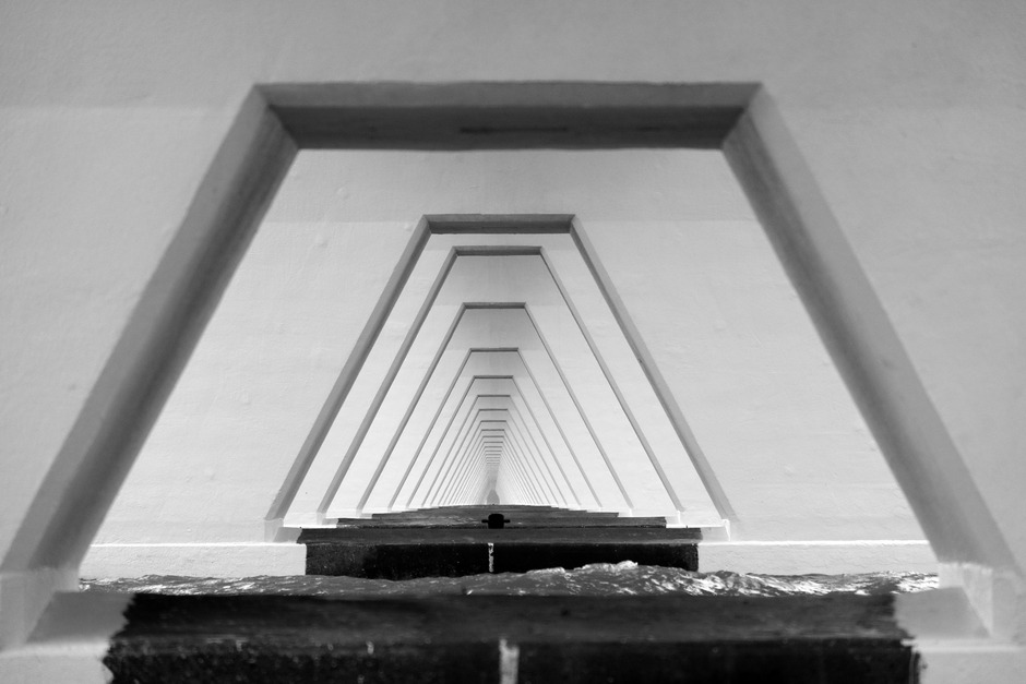 onder de brug is het droog