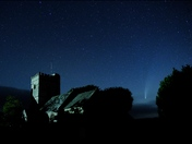 St. Giles Church, Northleigh with Comet Neowise and The Plough