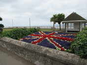 """The """"Union Jack"""" flower bed"""