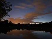 Comet over Needham Lake,