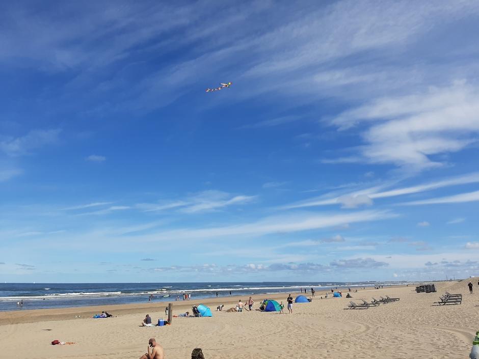 Strand, vlieger