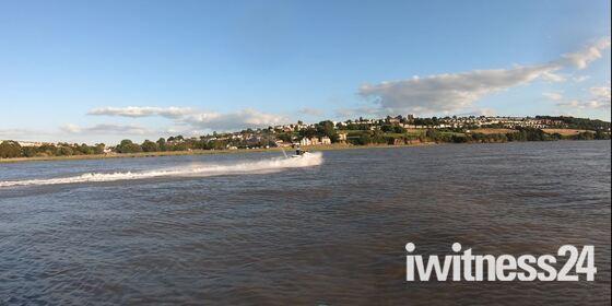 Jet skier in the Bristol channel.
