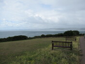 Moody skies across the sea from Orcombe Point, 26th July 2020