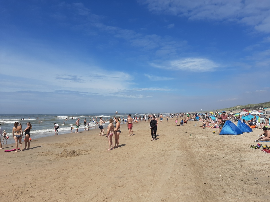 Druk op het strand!