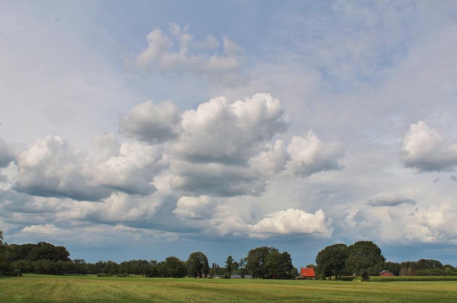 lekkere temperatuur beetje zon en wolken
