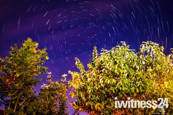 Star trails over Exmouth