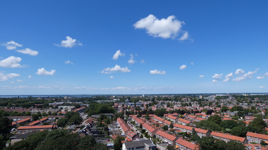 Lucht boven Harderwijk richting Flevoland