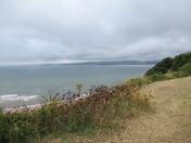 Looking over the sea from Orocombe Point footpath