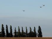 RAF Chinook flight returning to Wattisham airfield.
