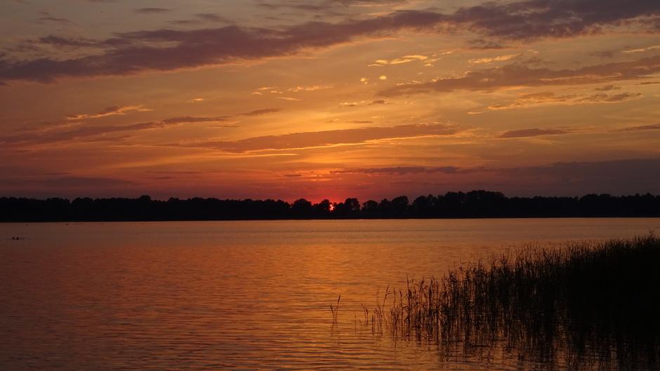 Een prachtige zonsondergang vanavond op het Nannewiid