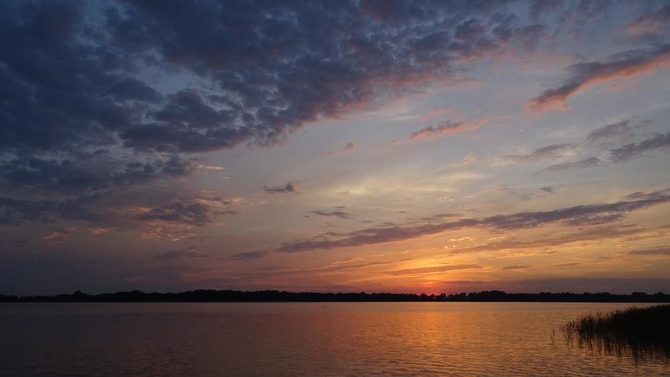 Een prachtige zonsondergang vanavond