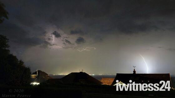 Thunderstorm passing over Worlebury, Weston super Mare