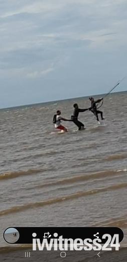 Kite surfing at Old Hunstanton