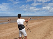 Kite surfing at Old Hunstanton
