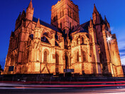 Cathedral  of St Johns Bapist at Evening