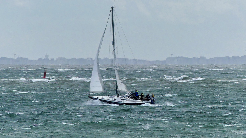 Harde wind zeilen met zeebenen