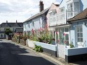 Aldeburgh cottages in July