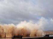 Storm Ellen hits Sidmouth Esplanade
