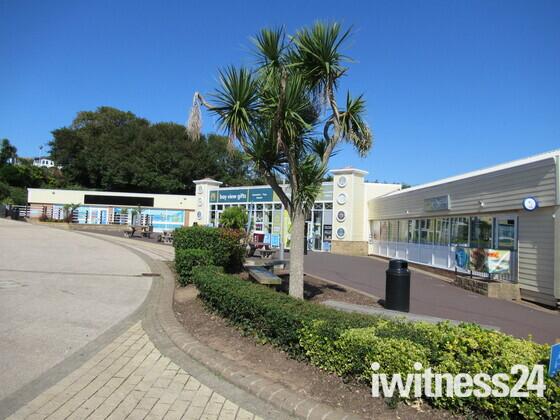 Sandy Bay holiday park shopping centre area