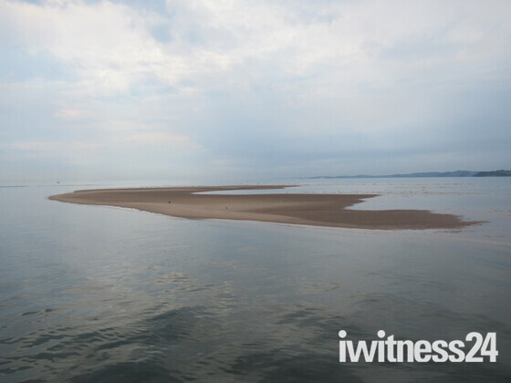 Sand Banks at low tide in Exmouth