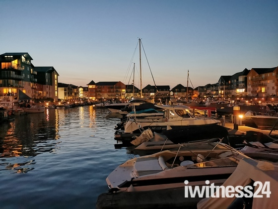 Exmouth Marina at sundown