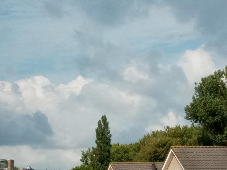 Behoorlijke stapelwolken.