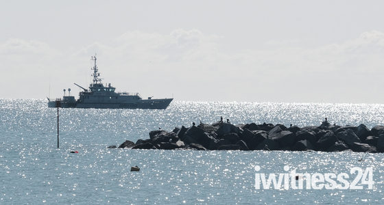 Border Force patrol off Lyme Regis coastline