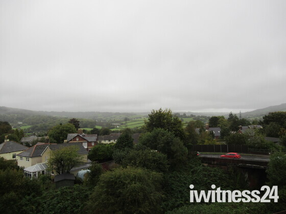 May be a wet day, a view over Honiton