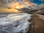 Winter Sunset at Sidmouth